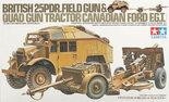 Tamiya British 25 PDR. Field Gun & Quad Gun Tractor #35044