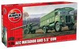 """Airfix AEC Matador and 5.5"""" Gun 1:76 (A01314)"""