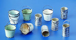 Plus Model Metal Buckets and Cans 1/35 #152