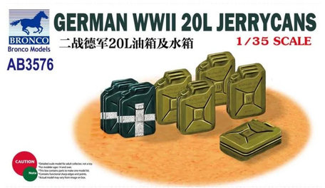 Bronco German WWII 20L Jerrycans 1:35