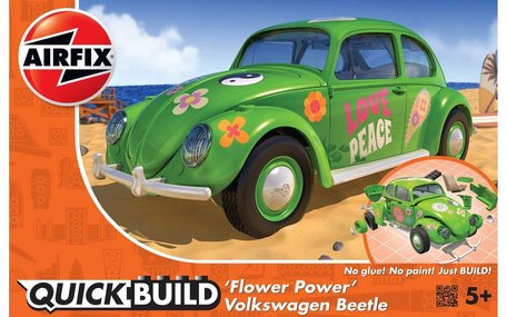 Airfix Quickbuild Volkswagen Beetle Flower Power