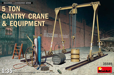 MiniArt 5 Ton Gantry Crane & Equipment 1:35