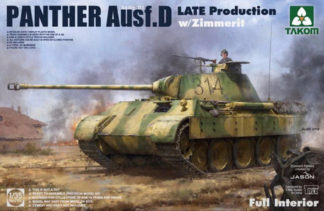 Takom Panther Ausf. D Late Production Zimmerit Interior 1/35