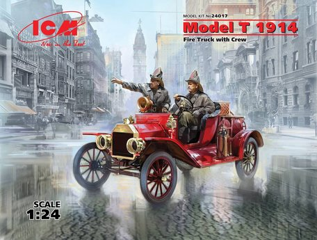 ICM Model T 1914 Fire Truck with Crew 1:24