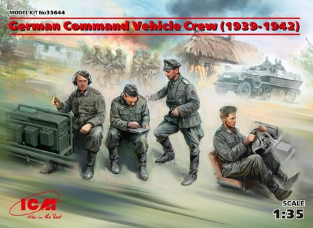 ICM German Command Vehicle Crew 1:35