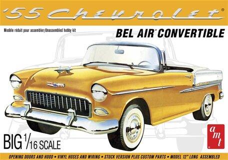 AMT Chevrolet '55 Bel Air Convertible 1:16