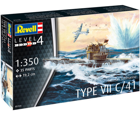 Revell German Submarine Type VII C/41 1:350