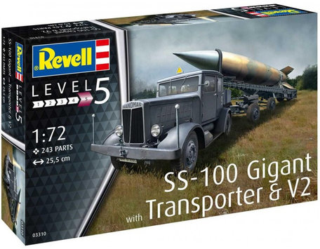 Revell SS-100 Gigant with Transporter & V2 1:72