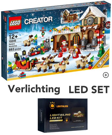 LEGO 10245 Santa's Workshop + LED Verlichting