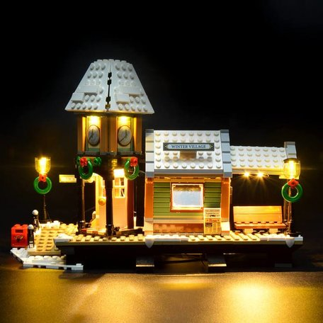 LEGO 10259 Winter Village Station + LED Verlichting