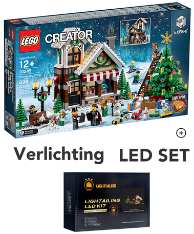 LEGO 10249 Winter Toy Shop + LED Verlichting