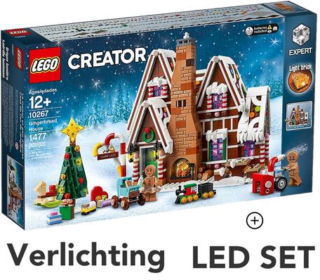 LEGO 10267 Peperkoekhuis + LED Verlichting