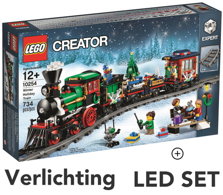 LEGO 10254 Winter Holiday Train + LED Verlichting