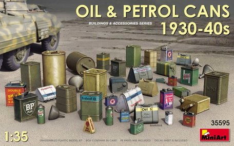 MiniArt Oil & Petrol Cans 1930-40s 1:35