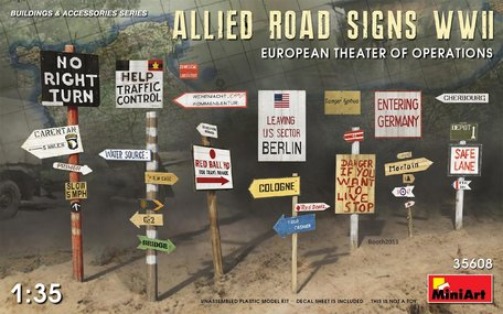 MiniArt Allied Road Signs WWII European Theatre of Operations 1:35