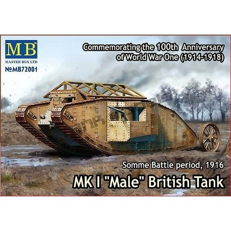 Master Box WWI MK.I Male British Tank 1:72