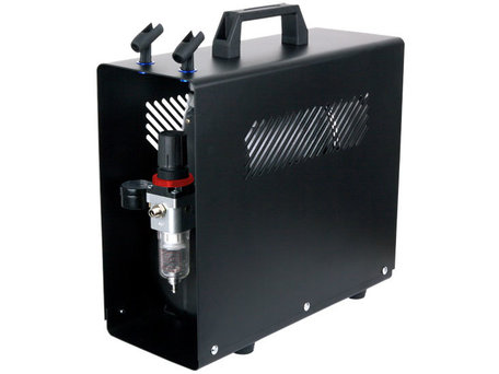 Airbrush Compressor met Luchttank en Behuizing