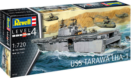 Revell Assault Ship USS Tarawa LHA-1 1:720