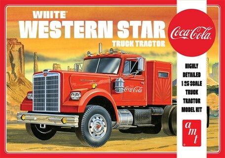 AMT White Western Star Truck Tractor Coca-Cola 1:25