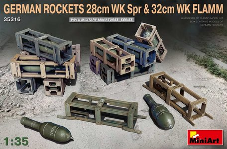 MiniArt German Rockets 28cm WK Spr & 32cm WK FLAMM 1:35