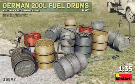 MiniArt German 200L Fuel Drums WW2 1:35