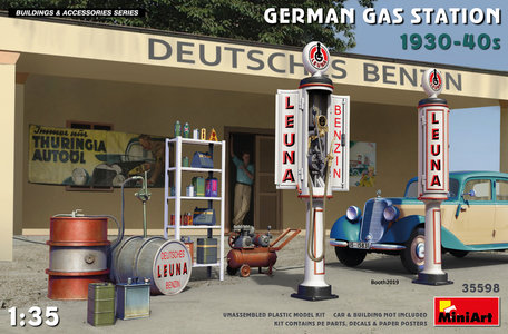 MiniArt German Gas Station 1930-40s 1:35