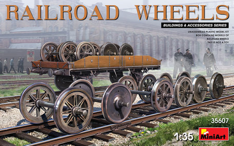 MiniArt Railroad Wheels 1:35