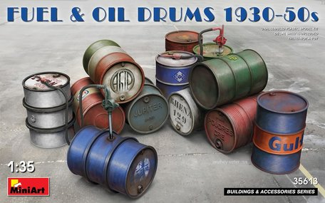 MiniArt Fuel & Oil Drums 1930-50s 1:35