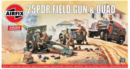 Airfix 25PDR Field Gun & Quad 1:76
