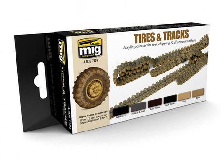 AMMO Paint Set: Tires and Tracks