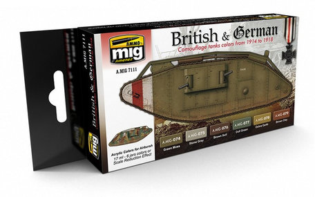 AMMO Paint Set: WWI British & German Colors