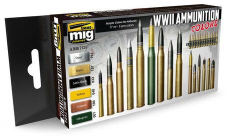 AMMO Paint Set: WWII Ammunition Colors