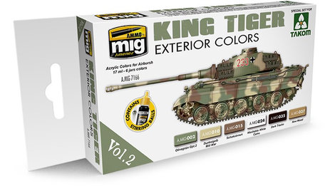 AMMO Paint Set: King Tiger Exterior Colors