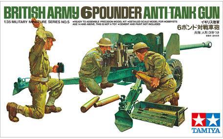 Tamiya British 6-Pounder Anti-Tank Gun 1:35