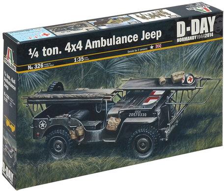 Italeri 1/4 ton. 4x4 Ambulance Jeep 1:35