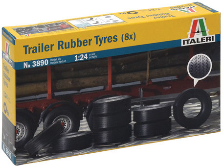 Italeri Trailer Rubber Tyres 8x 1:24