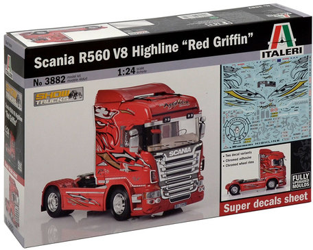 Italeri Scania R560 V8 Highline Red Griffin 1:24