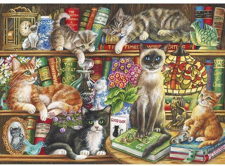 Gibsons Puss in Books (1000)