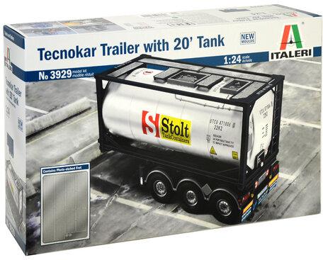Italeri Tecnokar Trailer with 20' Tank 1:24