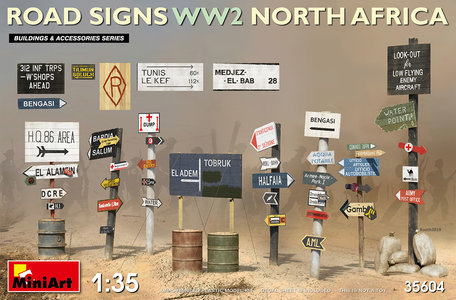 MiniArt Road Signs WII North Africa 1:35