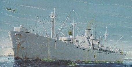Trumpeter WW2 Liberty Ship S.S. Jeremiah O'Brien 1:350