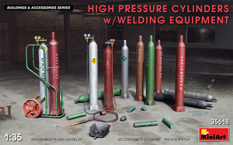 MiniArt High Pressure Cylinders Welding Equipment 1:35