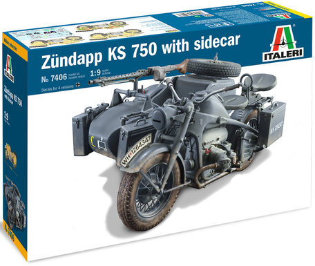 Italeri Zundapp KS 750 with Sidecar 1:9