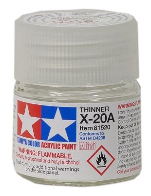 Tamiya X-20A: Acrylic Thinner 10 ml