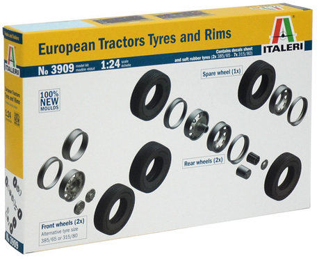 Italeri European Tractors Tyres and Rims 1:24