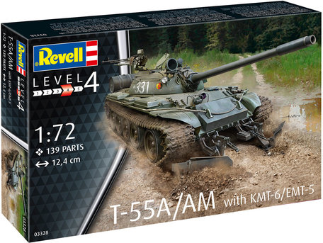 Revell T-55A/AM with KMT-6/EMT-5 1:72