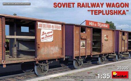 MiniArt Soviet Railway Wagon Teplushka 1:35