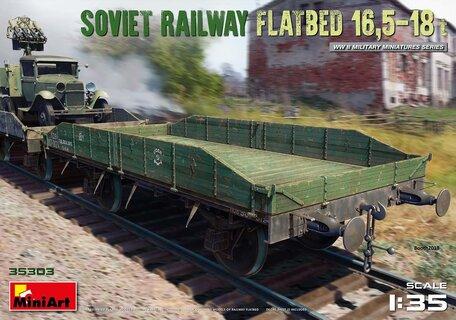 MiniArt Soviet Railway Flatbed 16,5-18t 1:35