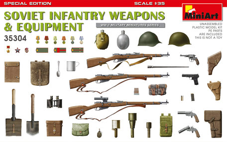 MiniArt Soviet Infantry Weapons & Equipment. Special Edition 1:35