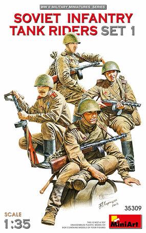 MiniArt Soviet Infantry Tank Riders Set 1 1:35